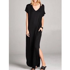 Vera Vera maxi dress with pockets.